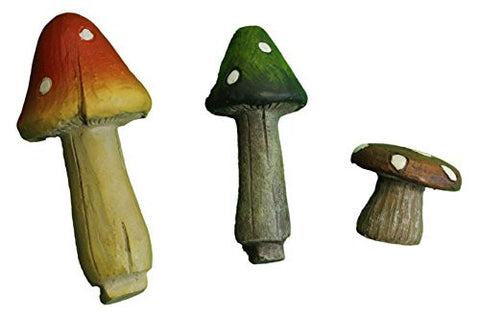 Ganz Collectible Fairy Garden Mushrooms Set of 3