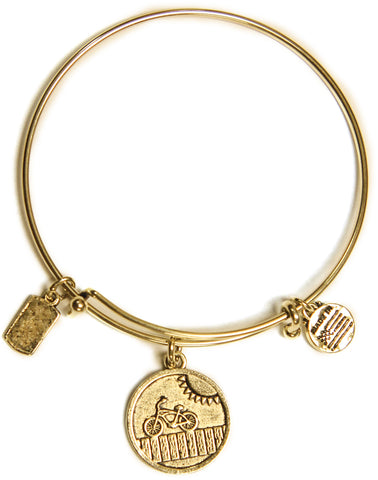 Ocean City Expressions Adjustable Wire Bangle Bracelet - Bicycle