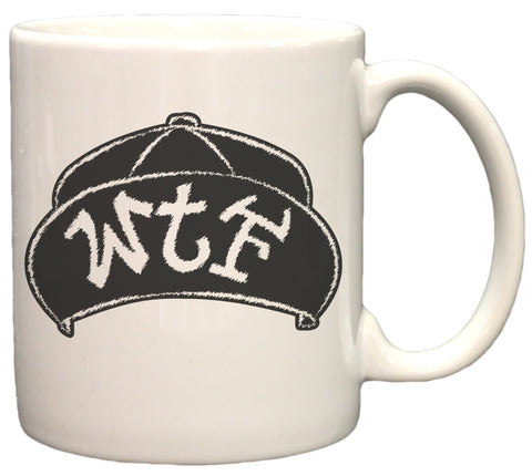 WTF Flip Up Snap Back Hat Graphic 11oz Coffee Mug