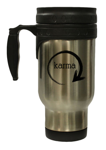 What Goes Around Comes Around Karma 12 oz Hot/ Cold Travel Mug