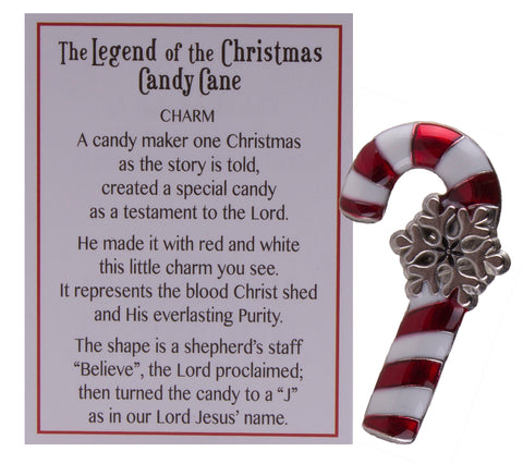 Stocking Stuffer- Legend Of The Candy Cane Pocket Charm w/ Story Card