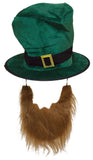 St. Patrick's Day Costume Accessory Green Top Hat W/Beard