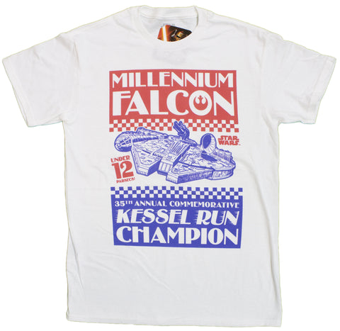 Men's Star Wars Millenium Falcon Kessel Run Champ T-Shirt