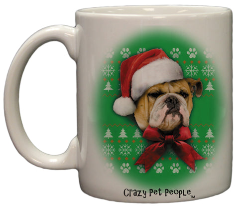 Dog Lovers Bulldog Ugly Sweater Christmas Design Ceramic Coffee Mug