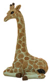 4 Inch Tall Polystone Laying Giraffe Figurine