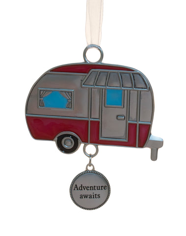 Fun In The Sun Zinc Ornament -Camper (Adventure Awaits)