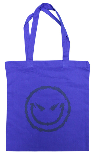 Evil Smiley Face Canvas Tote Bag
