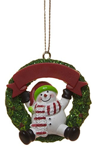 Ganz 2 Inch Personalizable Snowman Ornament (Red Hat)