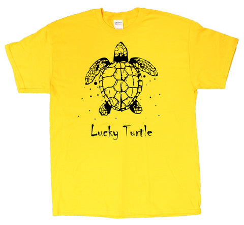 Very Lucky Turtle Men's T-Shirt (Sizes Small - XXX-Large)