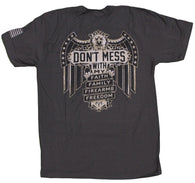 """Don't Mess With My Faith, Family, Firearms, Freedom"" Men's T-Shirt"