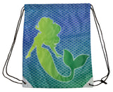 13 by 17 Inch Mermaid Design Polyester Tote/ Shopping/ Backpack Bag