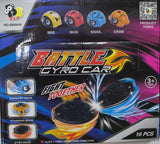 Box of 16 Friction Battle Gyro Car Toys