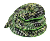 16 Inch Long Sand Filled Green Glitter Plush Snake Toy/ Paperweight