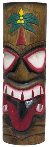 Hand Carved And Painted 12 Inch Wood Totem Pole (RedTongue)