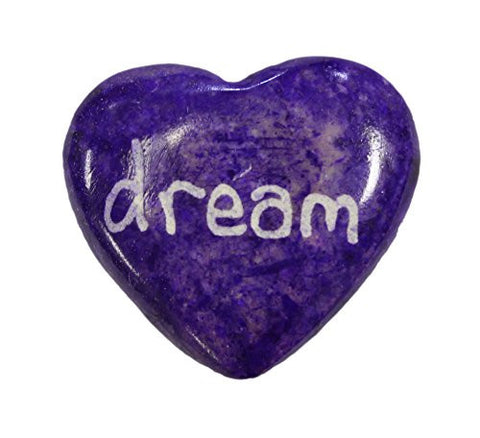 Genuine Marble Heart (1.5 Inches tall) with uplifting words of wisdom- dream