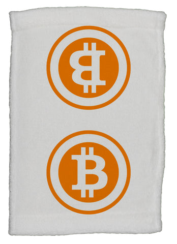 Bitcoin Logo Super Soft 8 x 12 Inch Hand Towel