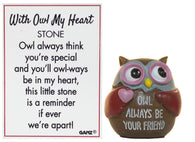 With Owl My Heart Owl Pocket Stone With Story Card (Always Be Your Friend)
