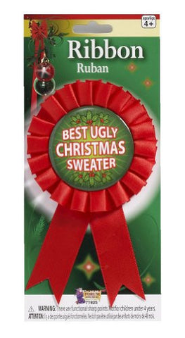 Forum Novelties Women's Award Ribbon For Ugliest Christmas Sweater