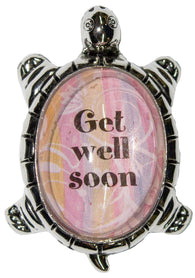 1.5 Inch Lucky Turtle Figurine - Get Well Soon - By Ganz