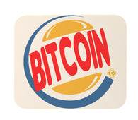 Funny Bitcoin King Burger Parody Mouse Pad