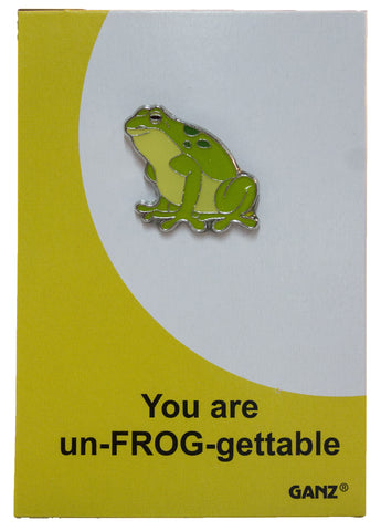 Pin It! Lapel Pin Hat Pin Tie Tack with Colorful Enamel and Funny Pun- Frog