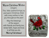 Warm Christmas Wishes Holiday Pocket Charm With Story Card