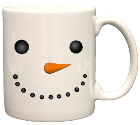 Snowman Face Funny Christmas 11oz Coffee Mug