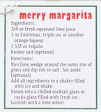 4 Inch Merry Margarita Glass Ornament with Recipe Card