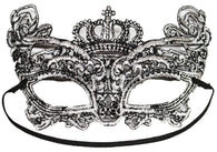 Costume Accessory - Lace Crown Cat Mask w/ Elastic Band