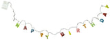 5 Ft Light Up Happy Birthday Garland with 15 LED Lights