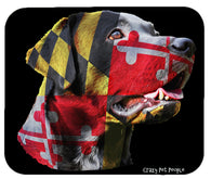 Dog Lovers Maryland Flag Labrador Retriever High Quality Mouse Pad
