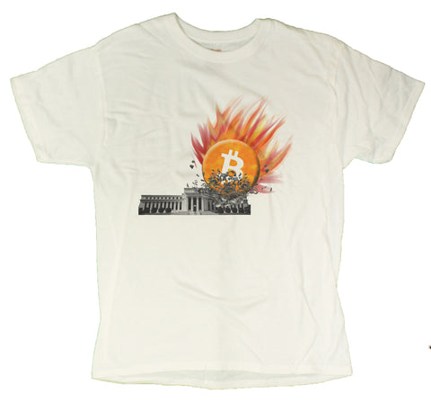 Men's Bitcoin Smashing Federal Reserve T-Shirt