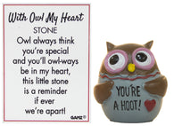 With Owl My Heart Owl Pocket Stone With Story Card (You're A Hoot)