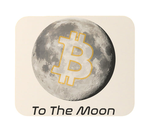 Bitcoin To The Moon Mouse Pad