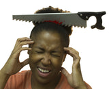 Zombie Costume Accessory - Bloody Saw Through Head Headband