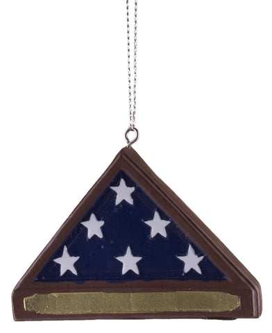 Support Our Troops Soldier's Memorial Flag Ornament