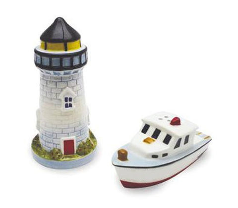 Cape Shore Lighthouse and Boat Salt and Pepper