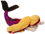 18 Inch Plush Swimming Mermaid on a Stick (Pink/ Black)