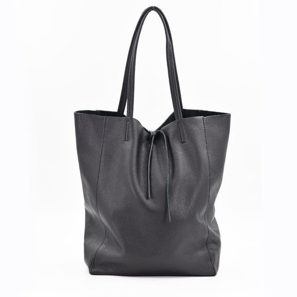 Italian leather tote handbag