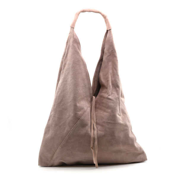 Large slouchy Italian leather suede handbag
