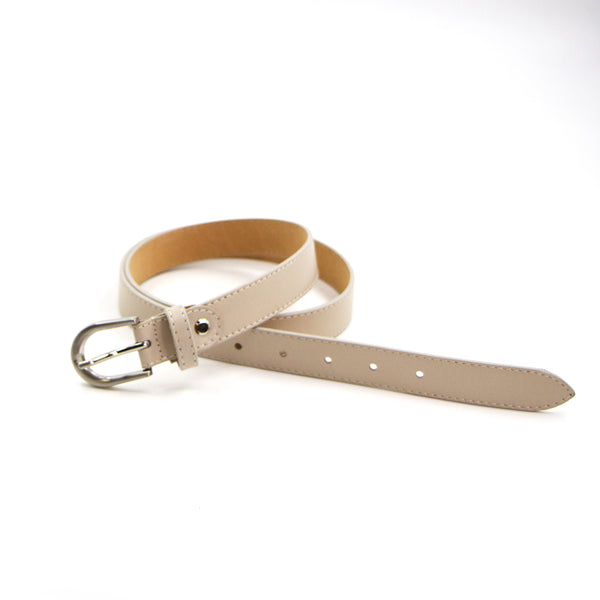 Real leather metallic belt - medium (W2.5cm)