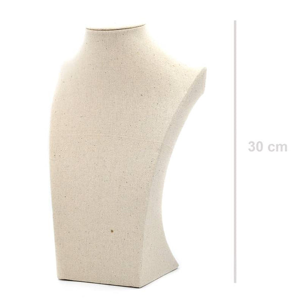 Small linen effect display bust (H30cm W18.5cm)