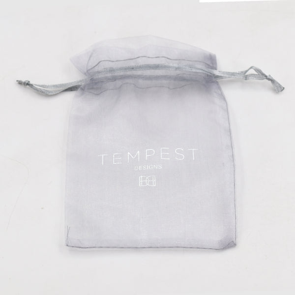 Organza draw string logo front bag (100 pack)