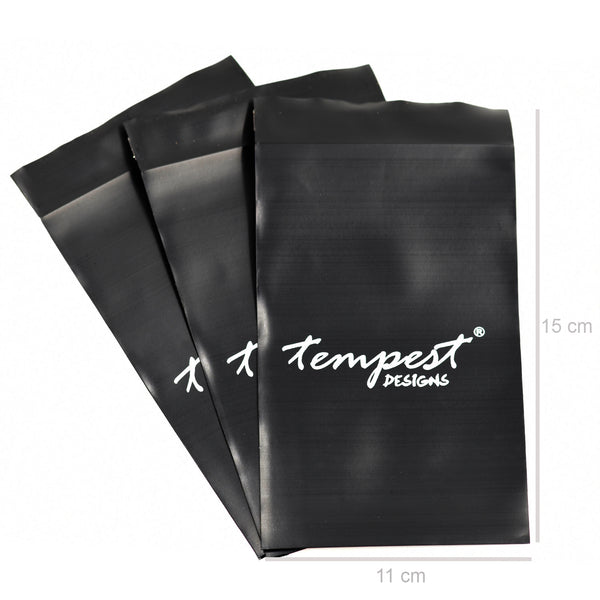Medium plastic logo bag (11cm x 15cm, pk of 100)