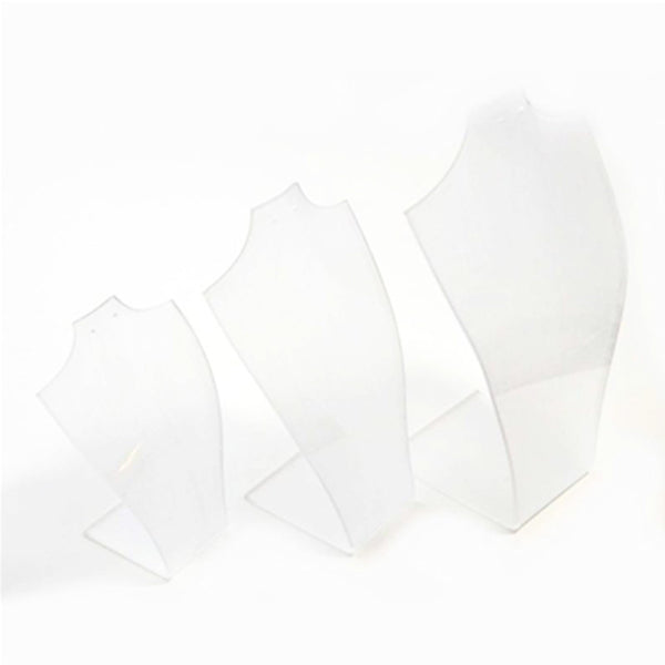 3 piece frosted perspex bust set