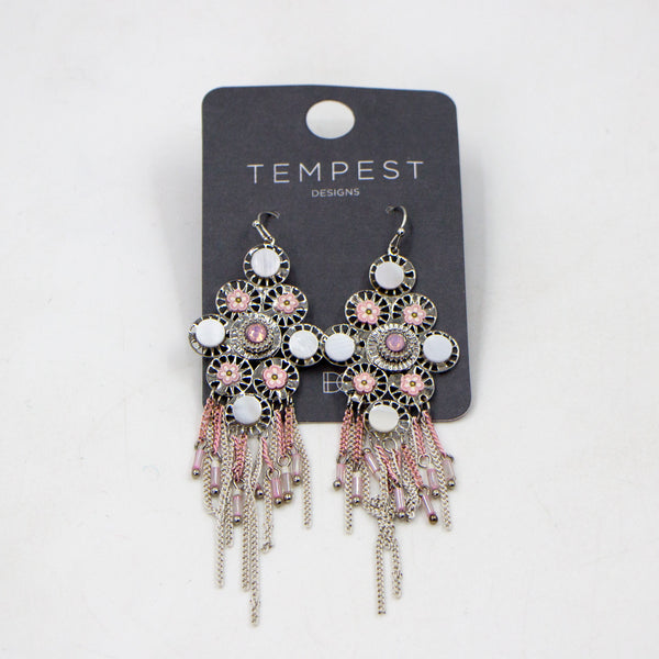 Crystal chandelier boho style earrings