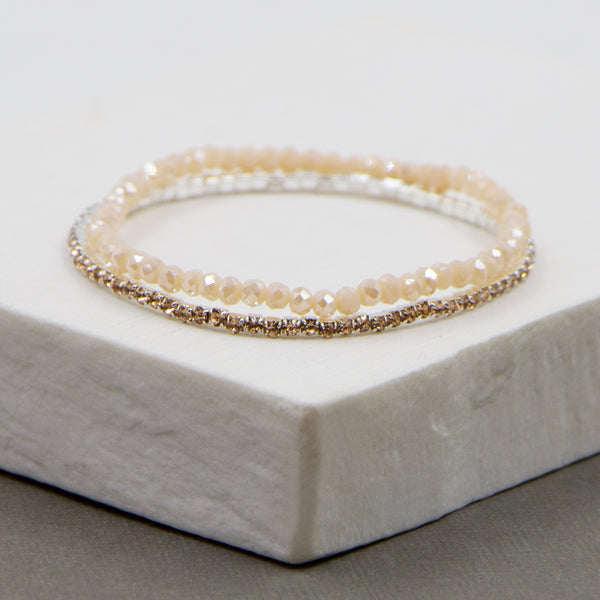 Delicate stretchy bracelet (2 pieces in one pack)