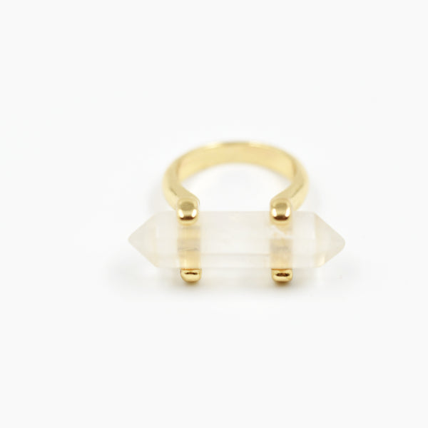 Statement ring with prism style stone detail