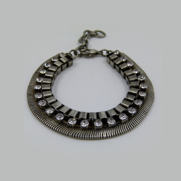Statement chain bracelet with diamante
