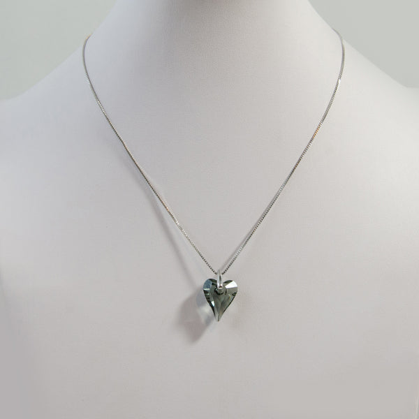 Swarovski heart shape pendant on delicate chain